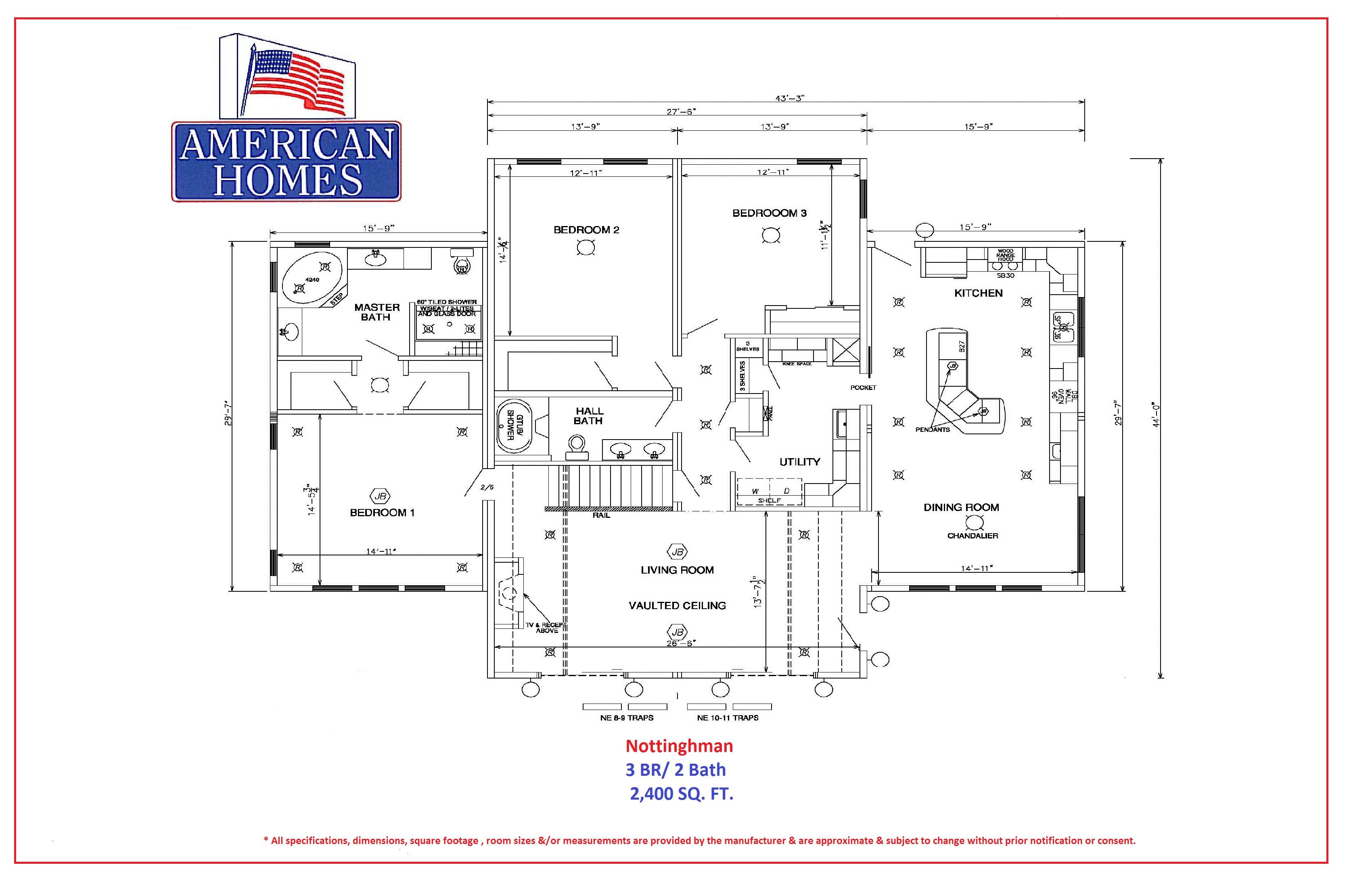 Nottingham american homes for American home builders floor plans