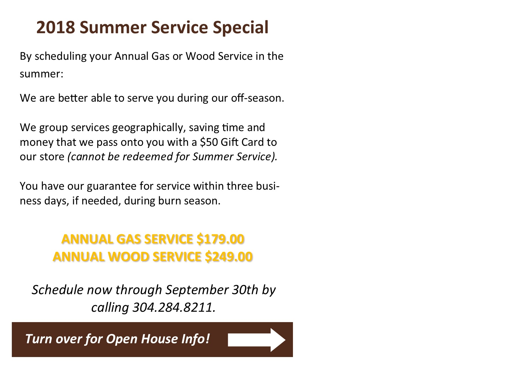 Summer Service Special - Image